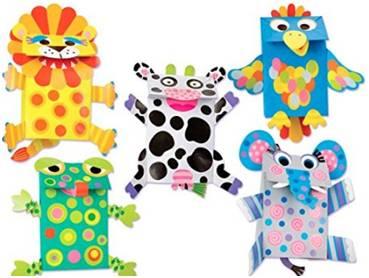 10,alex toys little hands paper bag puppets纸袋动物人偶